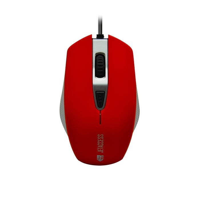Мышь Jet.A Comfort OM-U60 Red USB проводная, оптическая, 1600 dpi, 3 кнопки + колесо