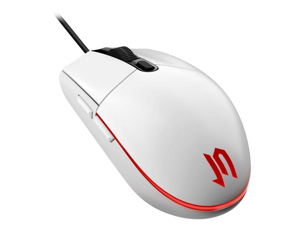Мышь Jet.A OM-U55 LED White Red USB проводная, оптическая, 2400 dpi, 4 кнопки + колесо