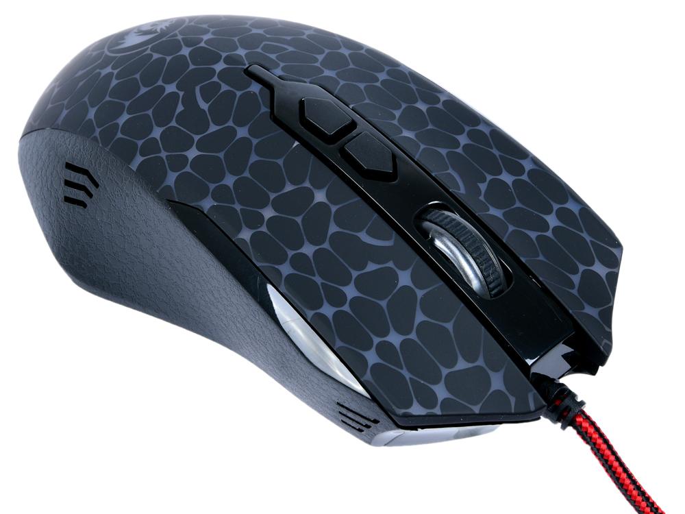 Мышь Redragon Inquisitor Black USB лазерная, 10000 dpi, 7 кнопок + колесо мышь игровая redragon foxbat лазер 19 кнопок 50 16400 dpi
