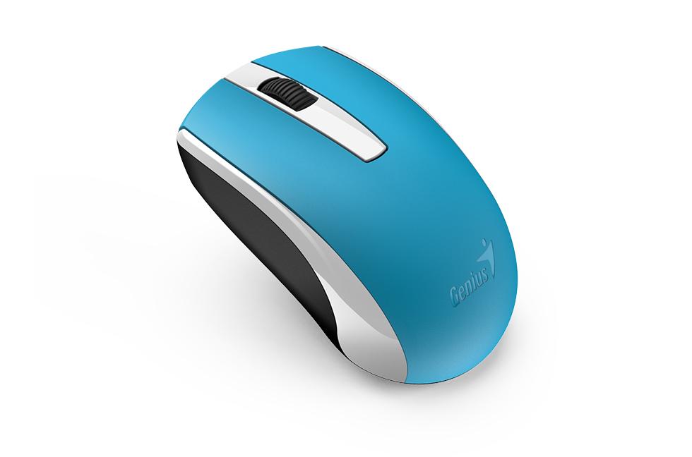 все цены на Мышь беспроводная Genius ECO-8100 Blue USB оптическая, 1600 dpi, 2 кнопки + колесо онлайн