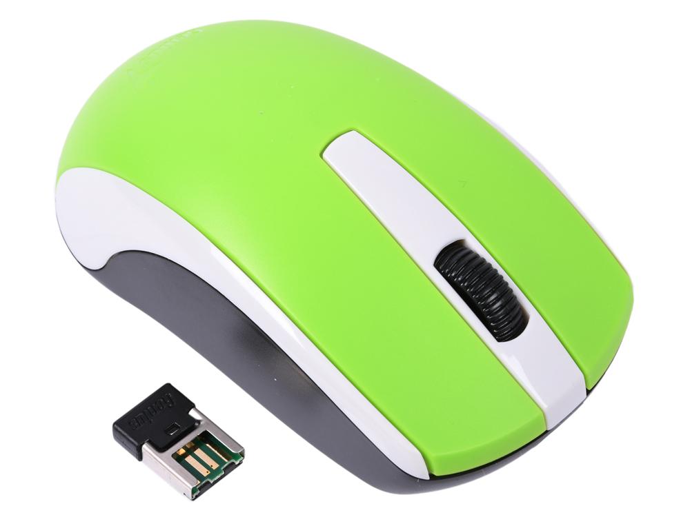 Мышь беспроводная Genius ECO-8100 Green USB(Radio) оптическая, 1600 dpi, 2 кнопки + колесо мышь беспроводная hp 200 silk золотистый чёрный usb 2hu83aa