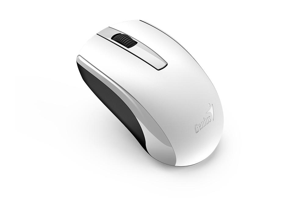Мышь беспроводная Genius ECO-8100 White USB оптическая, 1600 dpi, 2 кнопки + колесо мышь беспроводная hp z3700 v0l80aa abb white usb оптическая 1200 dpi 3 кнопки колесо