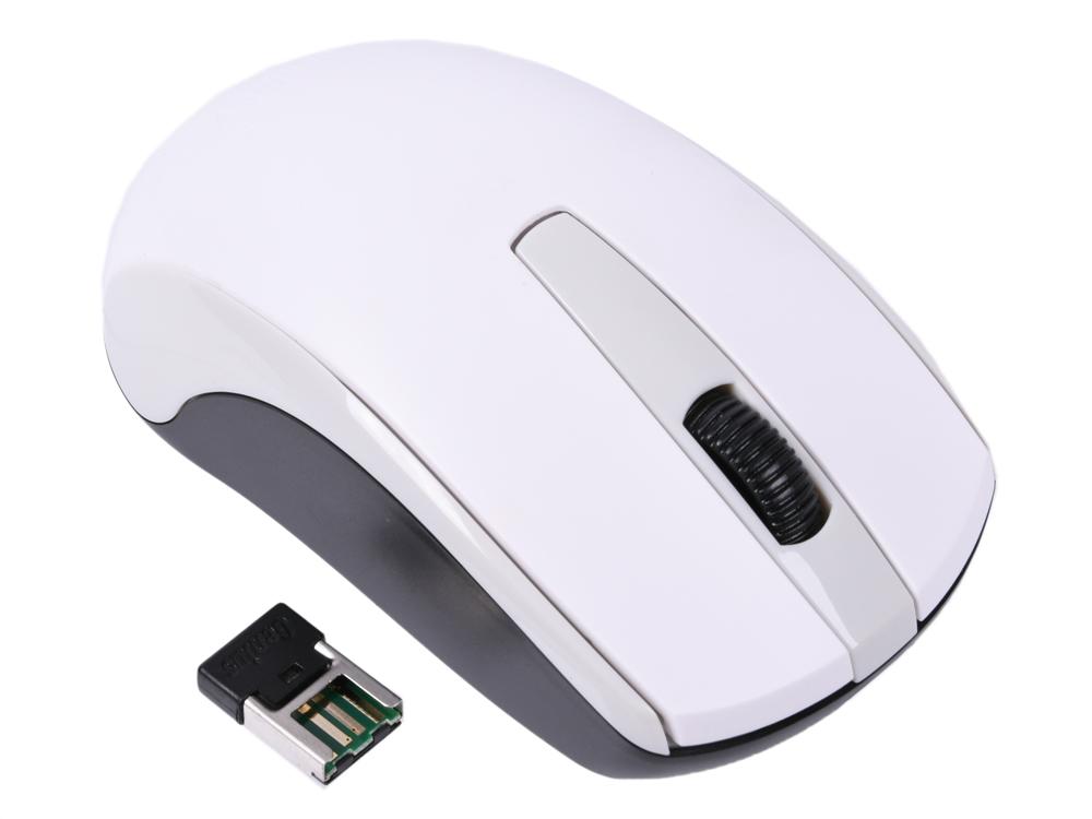 лучшая цена Мышь беспроводная Genius ECO-8100 White USB(Radio) оптическая, 1600 dpi, 2 кнопки + колесо