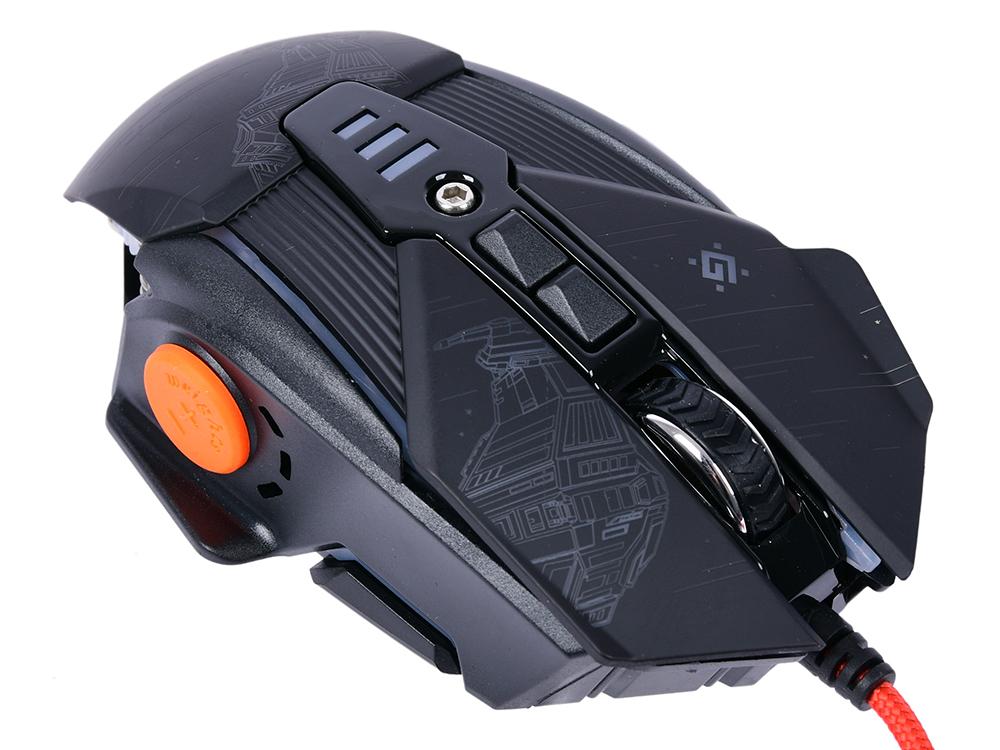 Мышь игровая Defender sTarx GM-390L оптика, USB, 8 кнопок, грузики, 3200dpi