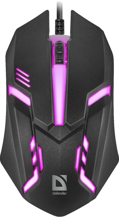 Мышь Defender Сyber MB-560L Black USB проводная, оптическая, 1200 dpi, 2 кнопки + колесо мышь оптическая defender flash mb 600l оптическая три кнопки колесо конпка 1200 dpi