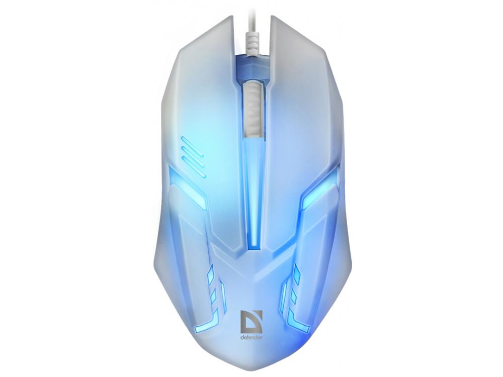 Мышь Defender Сyber MB-560L White USB проводная, оптическая, 1200 dpi, 2 кнопки + колесо taiwai tr 560l вариегата