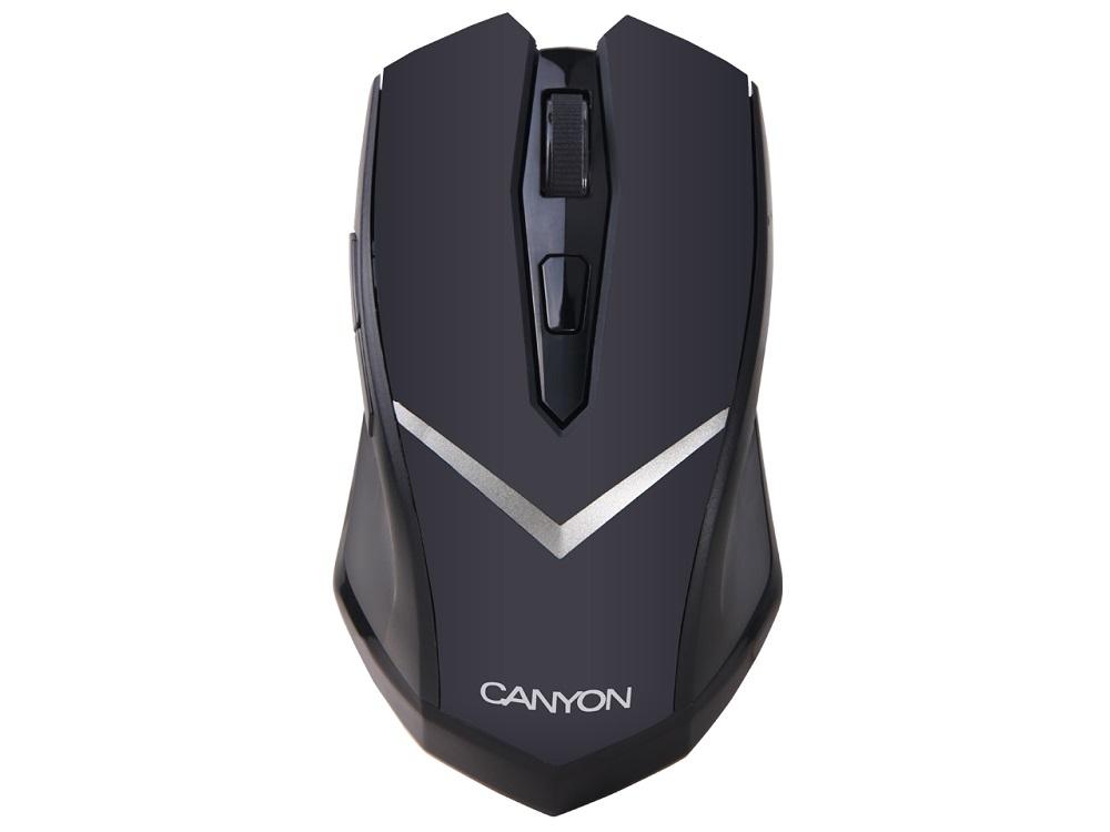 лучшая цена Мышь беспроводная Canyon CNE-CMSW3 Black USB оптическая, 1600 dpi, 5 кнопок + колесо