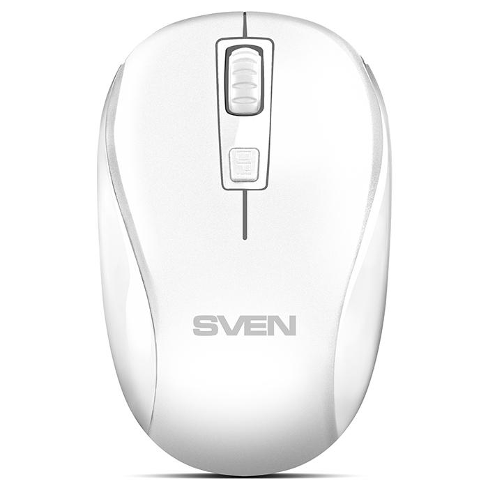 Мышь беспроводная SVEN RX-255W белая (2,4 GHz, 3+1кл. 800-1600DPI, цвет. картон) мышь sven rx 305 black беспроводная