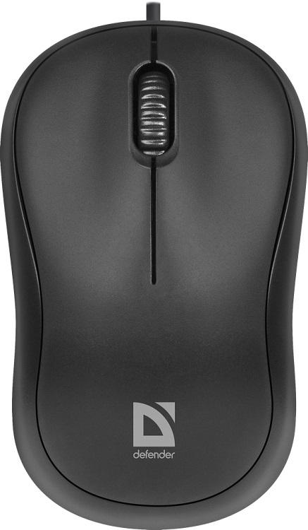 Мышь Defender Patch MS-759 Black USB проводная, оптическая, 1000 dpi, 2 кнопки + колесо мышь проводная defender ms 940 чёрный usb