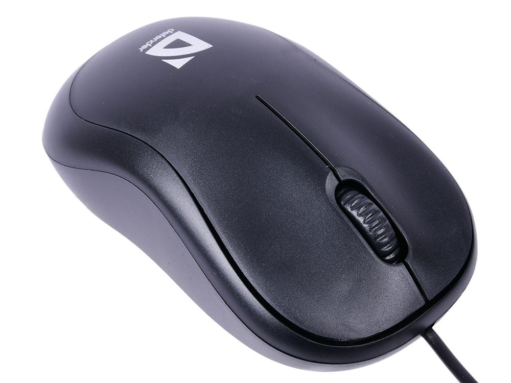 Мышь Defender Patch MS-759 Black USB проводная, оптическая, 1000 dpi, 2 кнопки + колесо фото