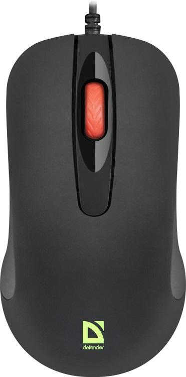 лучшая цена Мышь Defender Ultra Classic MB-280 Black USB проводная, оптическая, 1000 dpi, 2 кнопки + колесо