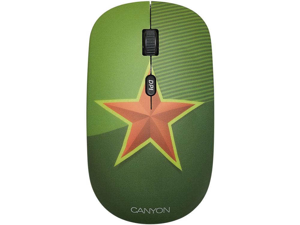 Мышь беспроводная Canyon CND-CMSW400S Звезда USB(Radio) оптическая, 800 - 1600 dpi , 3 кнопки + колесо все цены