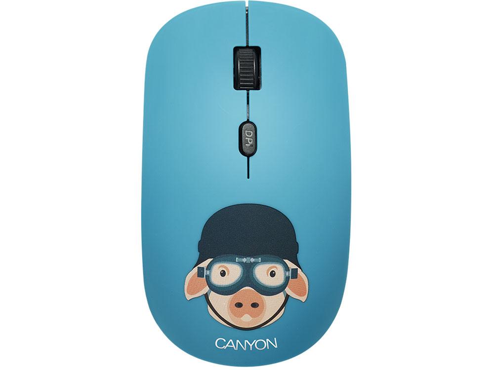 Мышь беспроводная Canyon CND-CMSW401MP со съемной панелью: Свинка-воин USB(Radio) оптическая, 800 - 1600 dpi , 3 кнопки + колесо все цены