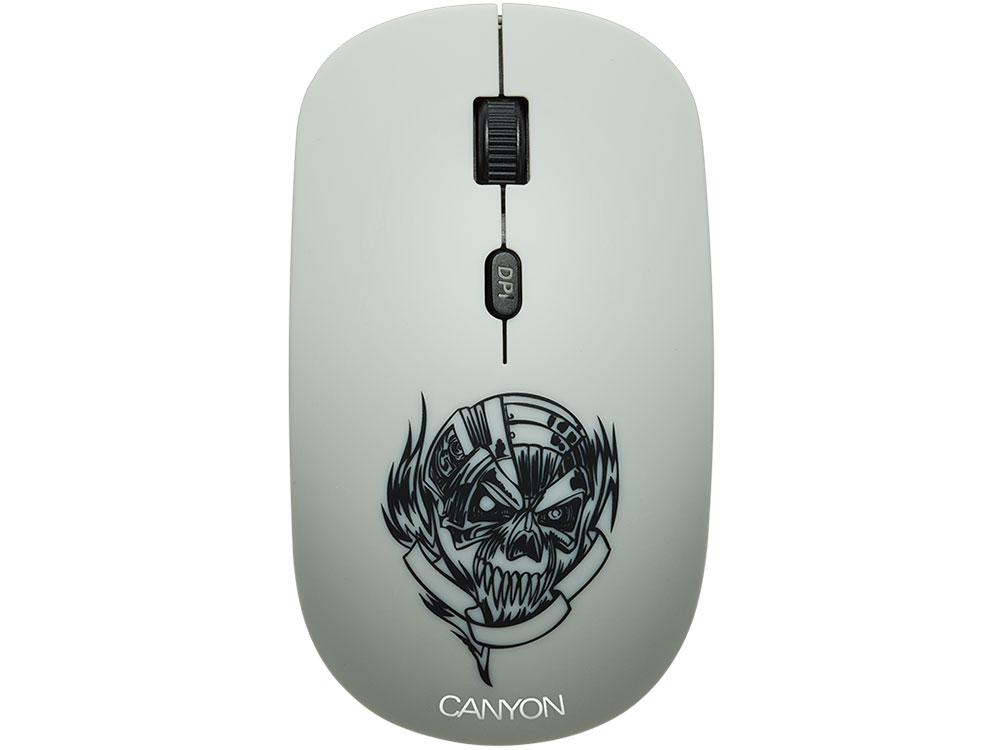 Мышь беспроводная Canyon CND-CMSW401MC со съемной панелью: Metallica USB(Radio) оптическая, 800 - 1600 dpi , 3 кнопки + колесо все цены
