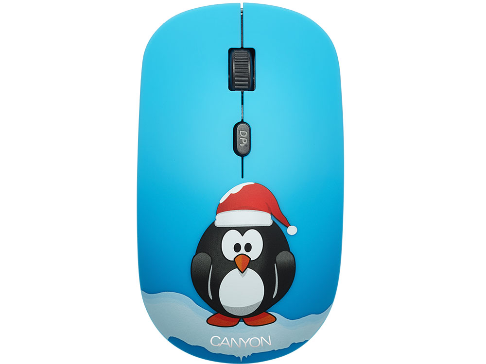 Мышь беспроводная Canyon CND-CMSW401PG Black/Blue USB(Radio) оптическая, 1600 dpi, 3 кнопки + колесо цена и фото
