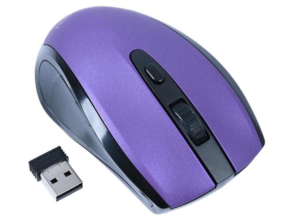Мышь беспроводная Canyon CNS-CMSW08V Purple BT + USB оптическая, 800/1200/1600 dpi, 6 кнопок + колесо все цены