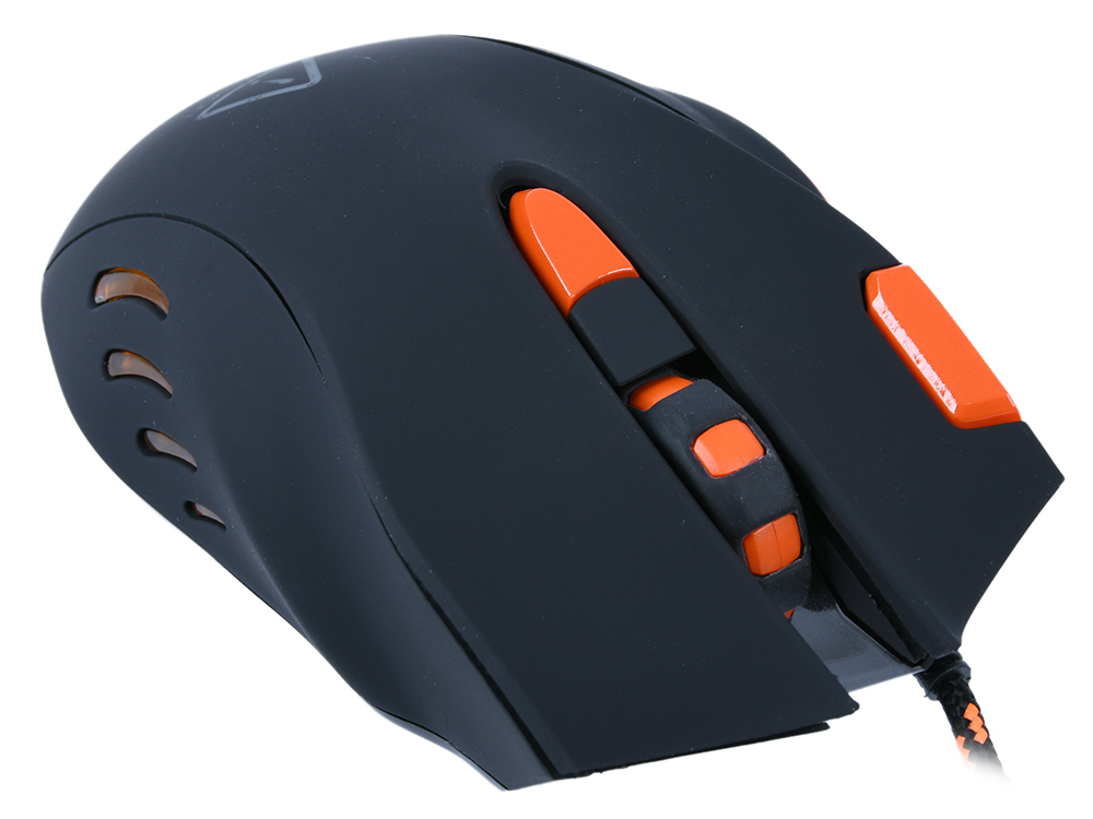 Мышь игровая Canyon Corax CND-SGM5N Black/Orange USB оптическая, программируемая, 6400 dpi, 7 кнопок + колесо цена и фото