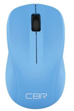 цена на Мышь беспроводная CBR CM-410 Blue USB(Radio) оптическая, 1000 dpi, 3 кнопки + колесо