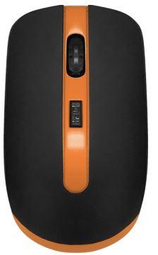Мышь беспроводная CBR CM-554R Black/Orange USB(Radio) оптическая, 1600 dpi, 3 кнопки + колесо мышь cbr cm 677 grey оптика радио 2 4 ггц 1200 dpi usb