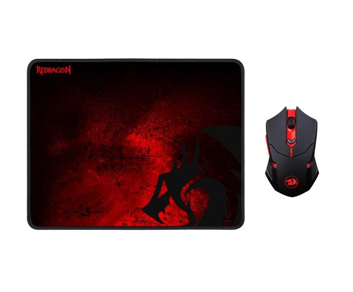 Игровой набор Redragon M601WL-BA Black/Red USB(Radio) проводная, оптическая, 2400 dpi, 5 кнопок + колесо цена