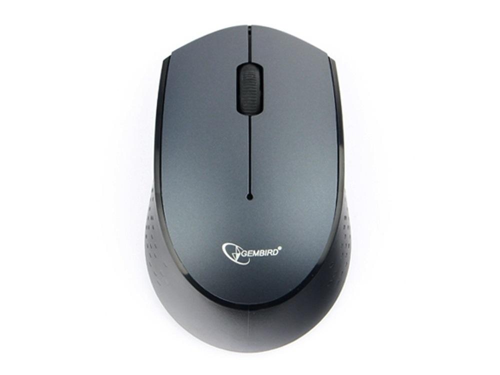 Мышь беспроводная Gembird MUSW-352 Black/Blue USB-C оптическая, 1000 dpi, 2 кнопки + колесо