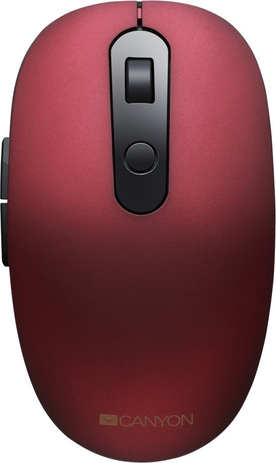 Мышь беспроводная Canyon CNS-CMSW09R Red BT + USB оптическая, 1600 dpi, 6 кнопок мышь беспроводная hp 200 silk золотистый чёрный usb 2hu83aa