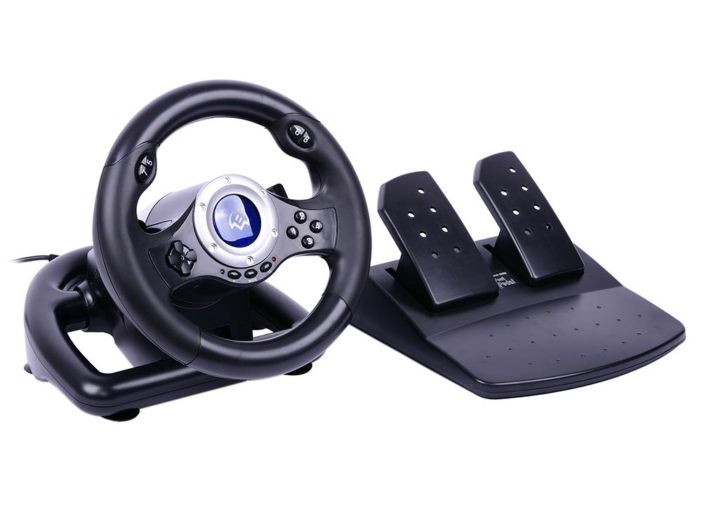Руль SVEN GC-W500 (педали, вибро, скоба, лепестки, D-pad, 10 кл, резин. вставки, PC/Xinput)