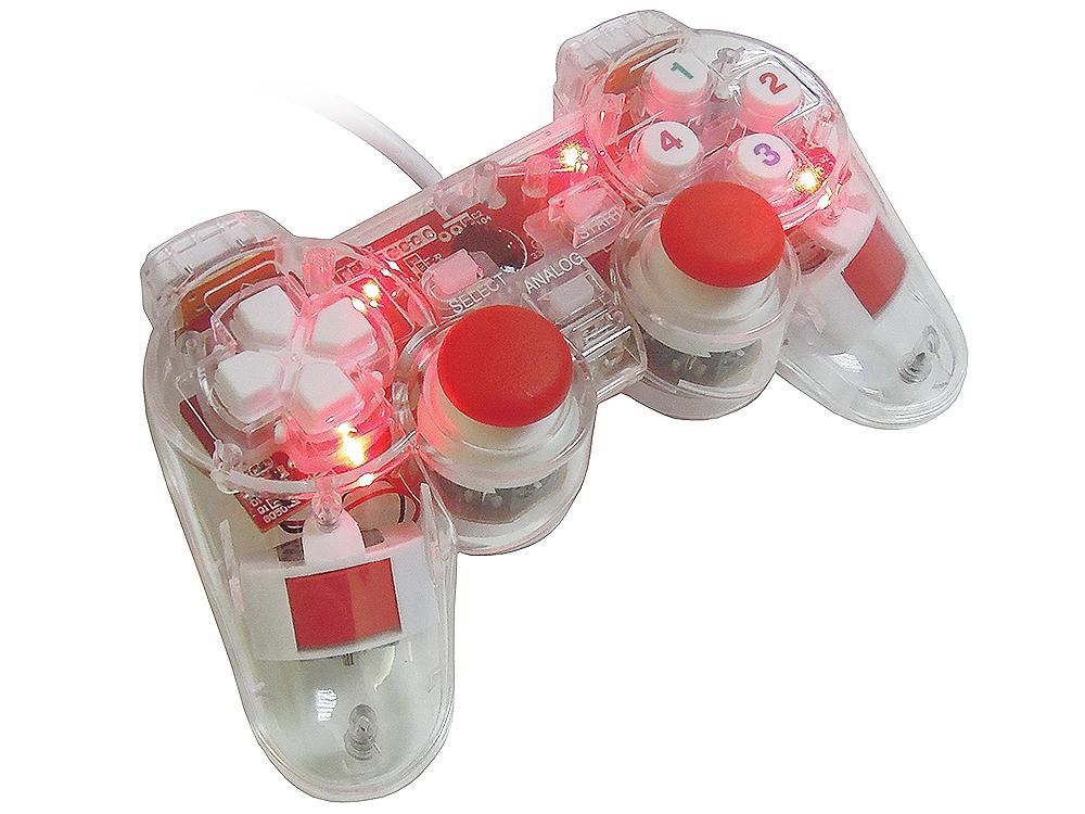 Фото - Геймпад 3Cott Single GP-01 12 конпок, вибрация , USB, прозрачный корпус корпус 3cott g08 черный