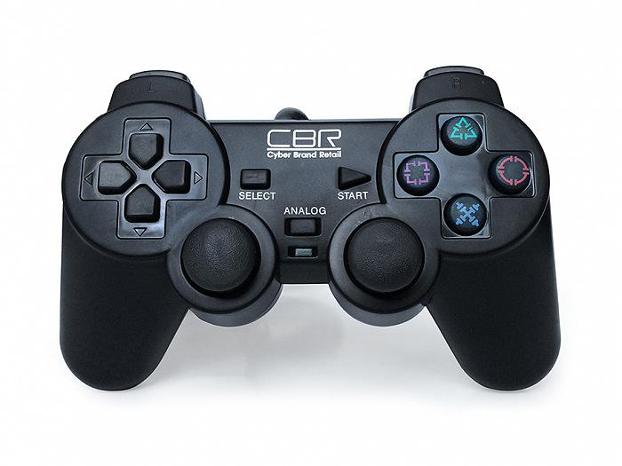 цена на Геймпад CBR CBG 950 для PC\PS2\PS3, проводной, 2 вибро мотора, 12 кнопок, USB