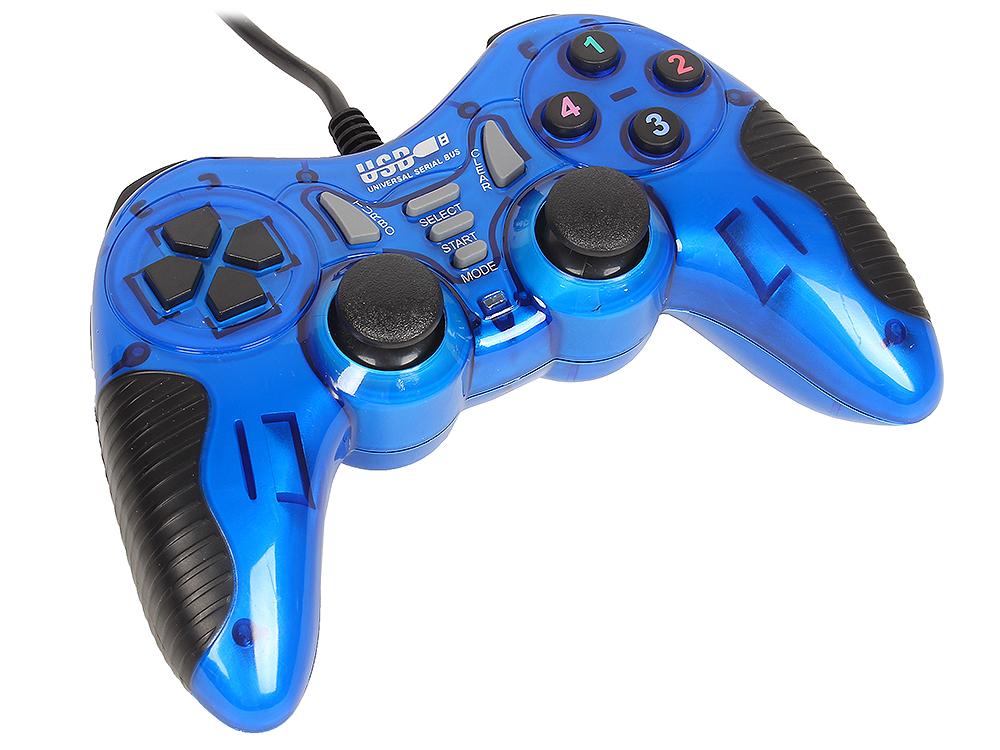лучшая цена Геймпад 3Cott Single GP-06,14 кнопок, вибрация, USB,синий