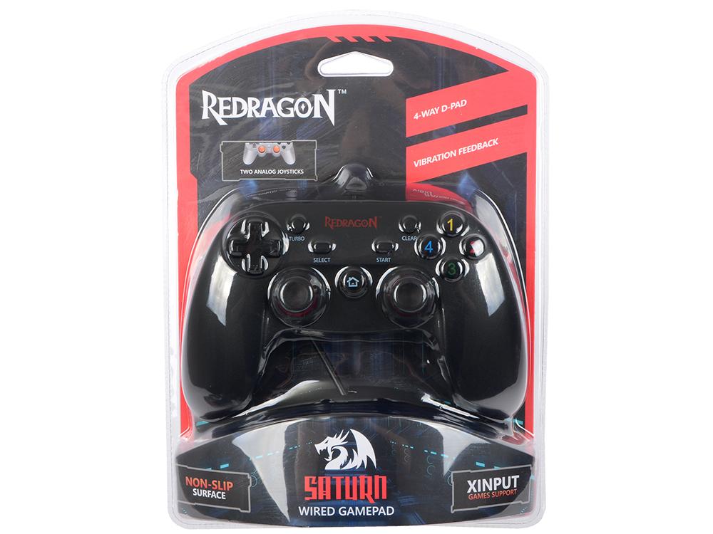 Геймпад проводной Redragon Saturn USB Xinput-PS3, 12кнопок, 2 стика цена и фото