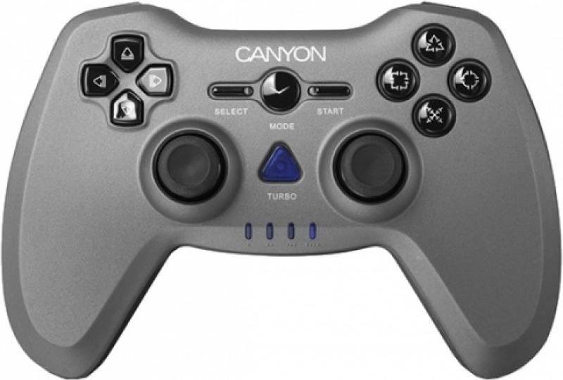 цена на Геймпад беспроводной CANYON CNS-GPW6 серый ПК / PS2 / PS3