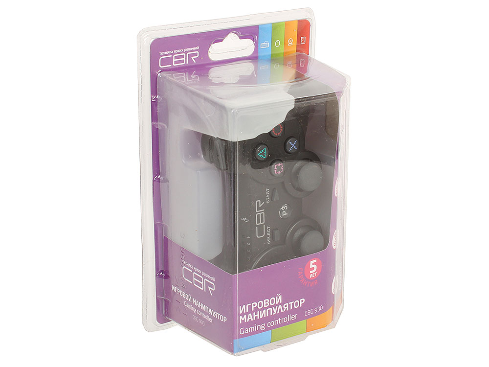 Геймпад игровой CBR CBG 930 для PS3 беспроводной, 2 вибро мотора, Bluetooth