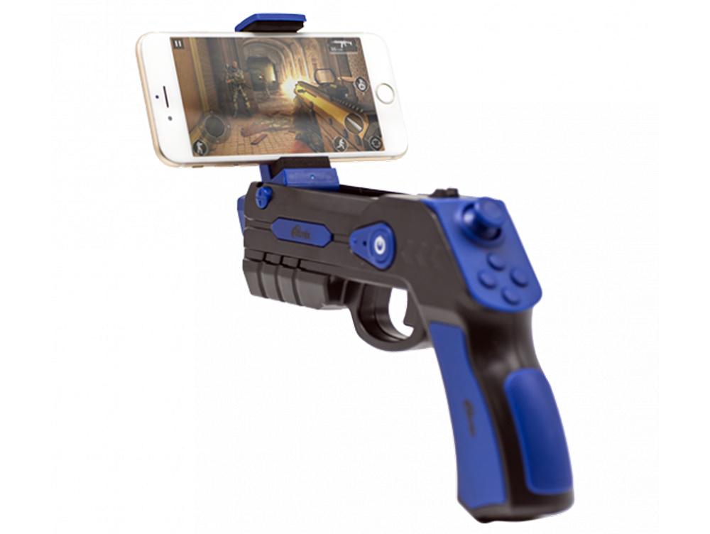 Геймпад беспроводной RITMIX GP-056BTH Black Blue AIR GUN, для смартфонов на базе Android и iOs, Bluetooth 4.0. геймпад ritmix gp 030bth black red