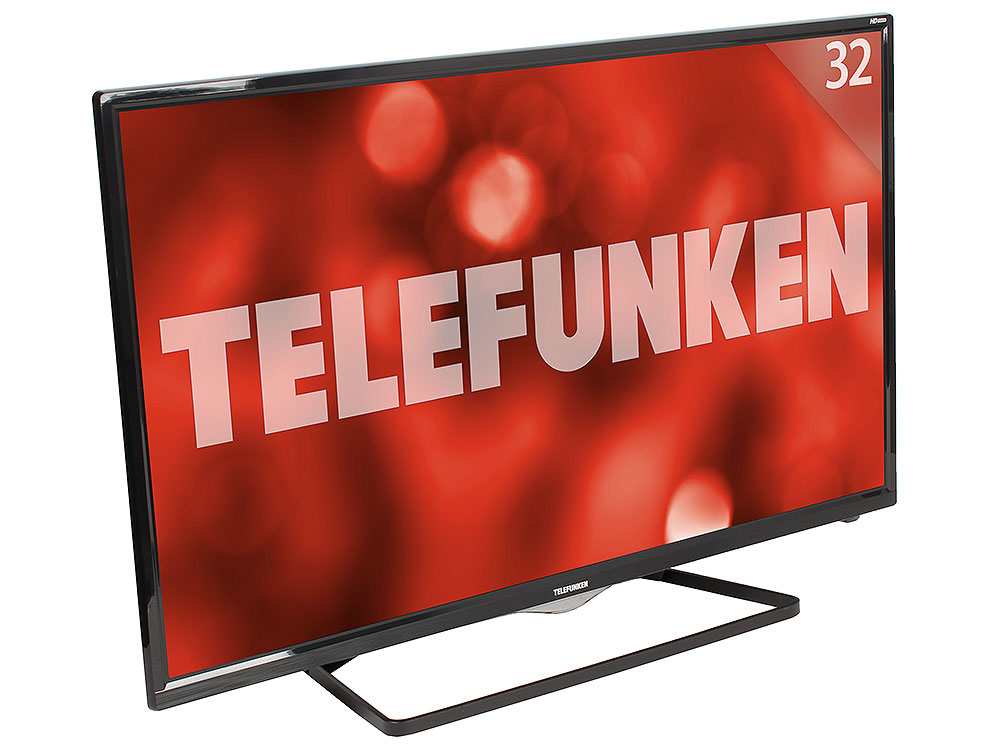 "Телевизор Telefunken TF-LED32S39T2S LED 32"" Black, Smart TV, 16:9, 1366х768, 5 000:1, 240 кд/м2, USB, HDMI, Wi-Fi, RJ-45, DVB-T, T2, C"