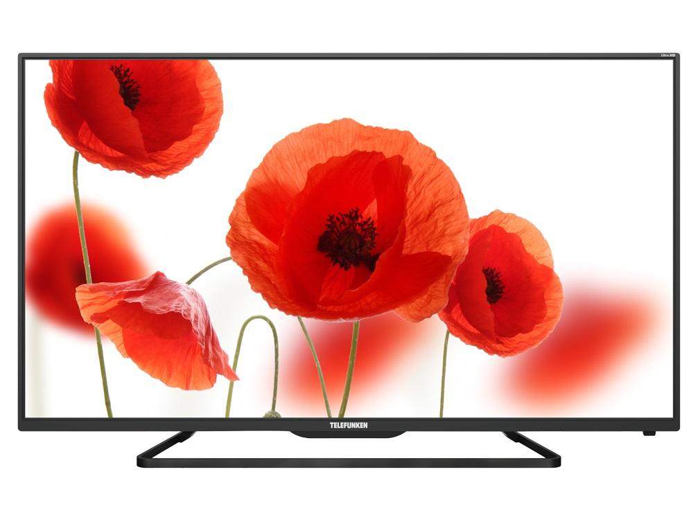 Телевизор Telefunken TF-LED55S37T2SU LED 55 Black, 16:9, 3840x2160, Smart TV, 3000:1, 350 кд/м2, 3xUSB, 3xHDMI, AV, RJ-45, Wi-Fi, DVB-T, T2, C телевизор telefunken tf led32s39t2s led 32 black 16 9 1366х768 5000 1 240 кд м2 2xusb 2xhdmi av wifi rj 45 dvb t t2 c