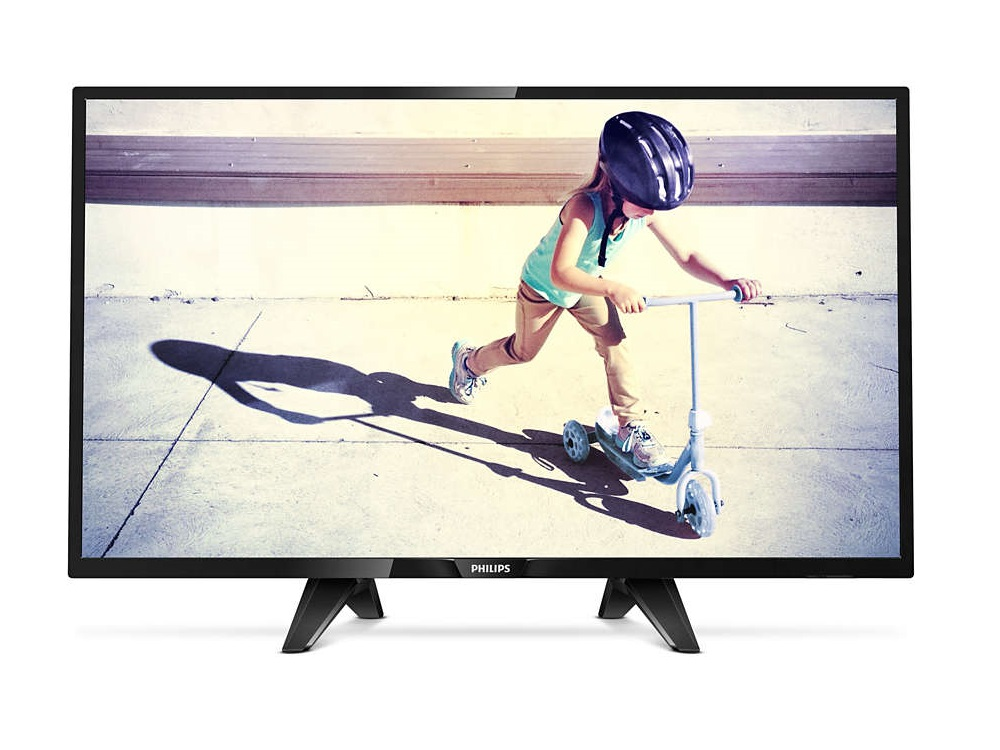 Телевизор Philips 32PHS4132/60 LED 32 Black, 16:9, 1366x768, USB, 2xHDMI, DVB-T, T2, C, S, S2 телевизор led 24 philips 24pht4031 60 черный 1366x768 200 гц usb scart s pdif