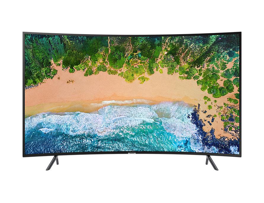 Телевизор Samsung UE55NU7300U LED 55 Black, 16:9, 3840x2160, Smart TV, 3xHDMI, USB, AV, RJ-45, Wi-Fi, DVB-T2, S2, C телевизор samsung qe55q8cnauxru 55