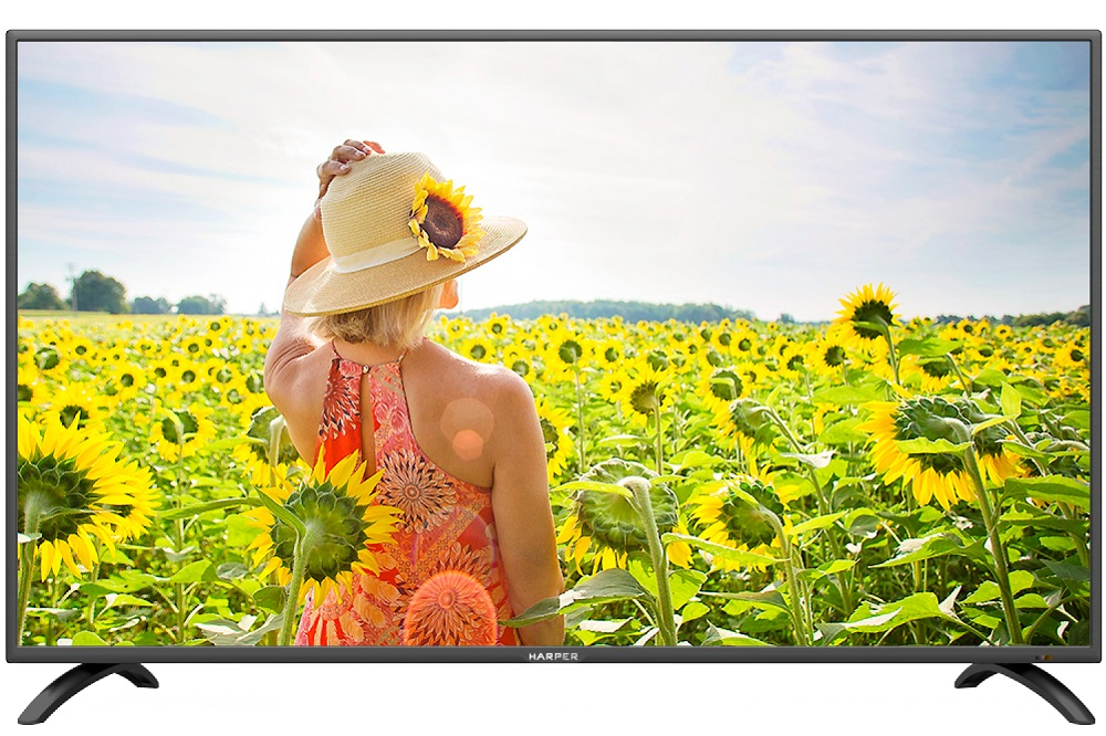 "Телевизор HARPER 40F660TS LED 40"" Black, Smart TV, 16:9, 1920x1080, 80 000:1, 240 кд/м2, USB, HDMI, VGA, Wi-Fi, RJ-45, DVB-T, T2, C"