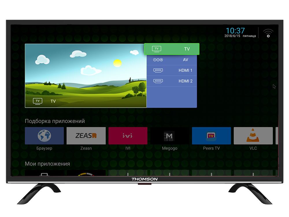 Телевизор Thomson T55FSL5130 LED 55 Black, 16:9, 1920x1080, Smart TV, 4000:1, 300 кд/м2, 2xUSB, 3xHDMI, AV, Wi-Fi, RJ-45, DVB-T, T2, C, S2 телевизор sony kdl 32we613 led 32 black 16 9 1920x1080 2xusb 2xhdmi av scart rj 45 wi fi dvb t t2 c