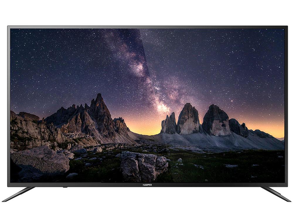 Телевизор HARPER 65U750TS LED 65 Black, Smart TV, 16:9, 3840x2160, 200 000:1, 330 кд/м2, USB, HDMI, Wi-Fi, RJ-45, DVB-T, T2, C, S, S2