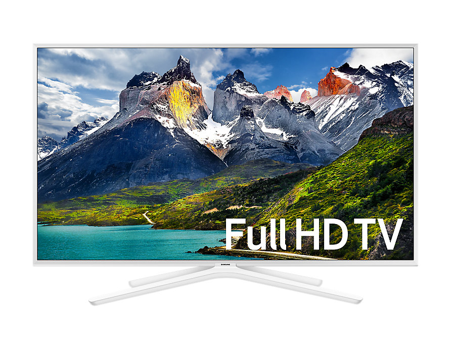 Телевизор Samsung UE49N5510AUXRU LED 49 White, Smart TV, 16:9, 1920x1080, USB, HDMI, AV, Wi-Fi, RJ-45, DVB-T2, C, S2 отправка из ru смарт телевизор с изогнутым экраном 43qm smh6 1920x1080 плотского экрана процессора hdmi
