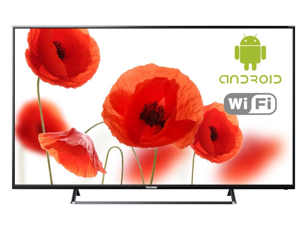 Телевизор Telefunken TF-LED65S75T2SU LED 65 Black, 16:9, 3840x2160, Smart TV, 1200:1, 350 кд/м2, 3xHDMI, USB, AV, RJ-45, Wi-Fi, DVB-T, T2, C, S, S2 телевизор telefunken tf led32s39t2s led 32 black 16 9 1366х768 5000 1 240 кд м2 2xusb 2xhdmi av wifi rj 45 dvb t t2 c