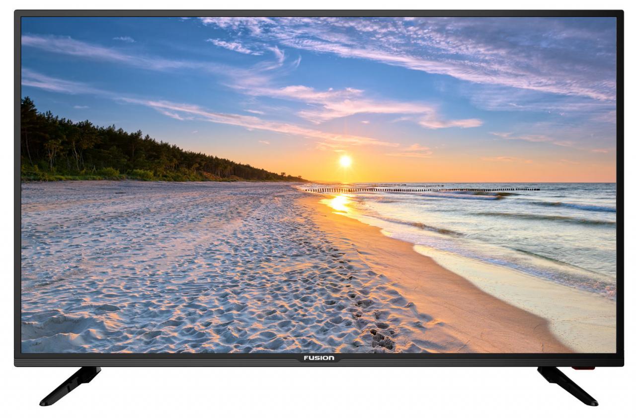 цена на Телевизор FUSION FLTV-40C110T LED 40'' Black, 16:9, 1920x1080, 100000:1, 280 кд/м2, USB, VGA, 3xHDMI, AV, DVB-T, T2, S, S2, C