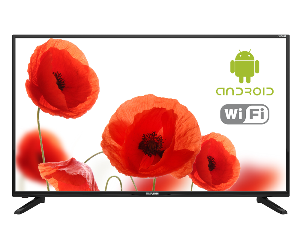 Телевизор LED 43 TELEFUNKEN TF-LED43S43T2S Черный телевизор telefunken tf led39s52t2 черный