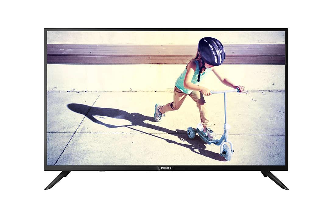 Телевизор Philips 43PFS4062/60 LED 43 Black, 16:9, 1920x1080, 250 кд/м2, USB, HDMI, DVB-T, T2, C, S, S2 dvd philips usb