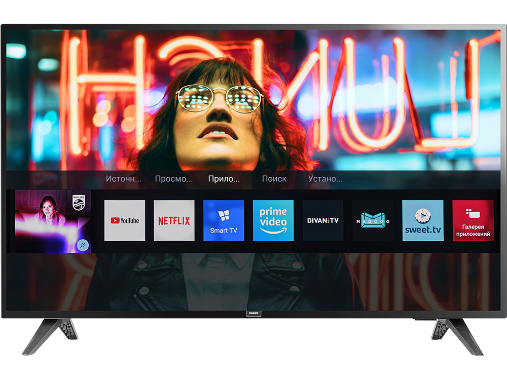 Телевизор Philips 43PFS5813/60 LED 43 Black, Smart TV, 16:9, 1920x1080, 250 кд/м2, USB, HDMI, Wi-Fi, RJ-45, DVB-T, T2, C, S, S2 tv lcd philips