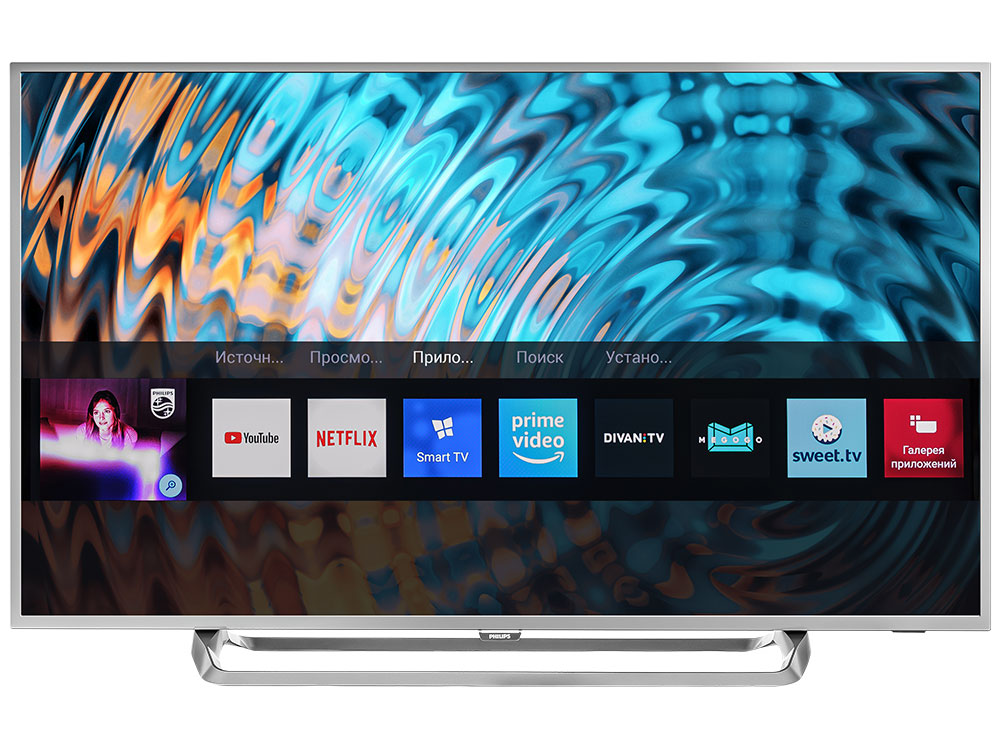 Телевизор Philips 55PUS6262/60 LED 55 Black, Smart TV, 16:9, 3840x2160, 350 кд/м2, USB, HDMI, Wi-Fi, RJ-45, DVB-T, T2, C, S, S2 масло