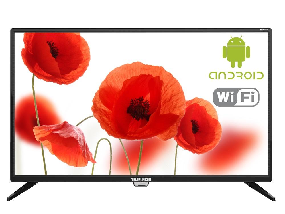 Телевизор Telefunken TF-LED32S86T2S LED 32 Black, 16:9, 1366x768, Smart TV, 3000:1, 240 кд/м2, USB, 3xHDMI, AV, RJ-45, Wi-Fi, DVB-T, T2, C телевизор bbk 39lem 1045 t2c led 39 black 16 9 1366x768 5000 1 250 кд м2 usb hdmi av dvb t t2 c
