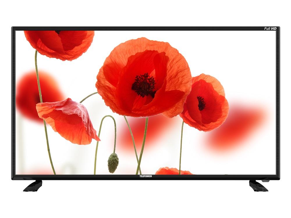 цена на Телевизор Telefunken TF-LED40S44T2 LED 40 Black, 16:9, 1920x1080, 5000:1, 310 кд/м2, USB, VGA, 3xHDMI, AV, DVB-T, T2, C